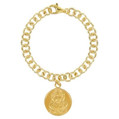 Glieder-Münz-Armband LAKSHMI 925er Silber goldplattiert